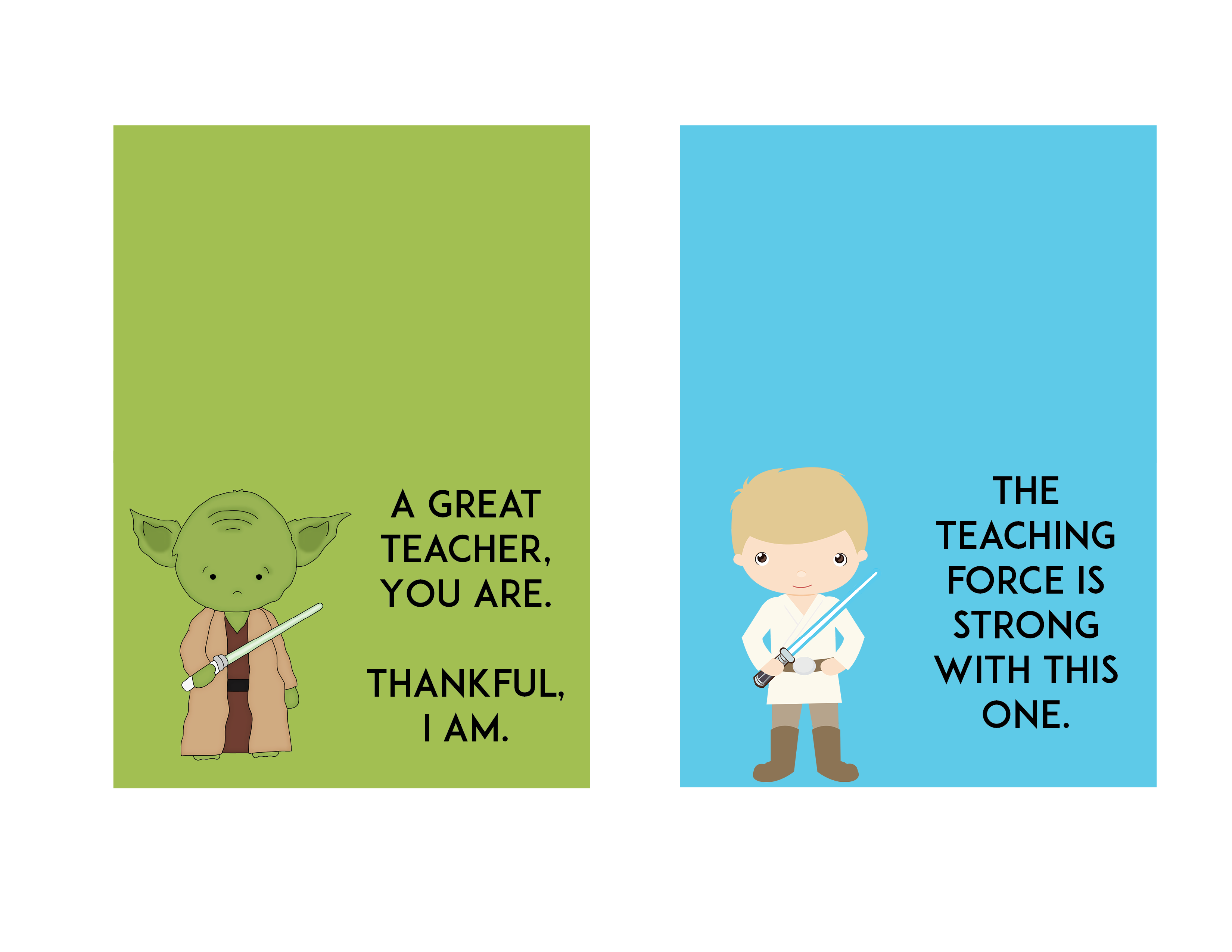graphic relating to Star Wars Thank You Cards Printable Free called Absolutely free Star Wars Instructor Appreciation Working day Printable Trainer