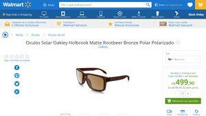 4be3075057b01  Wal-Mart  Oculos Solar Oakley Holbrook Matte Rootbeer Bronze Polar  Polarizado 3249139 por R  499,90