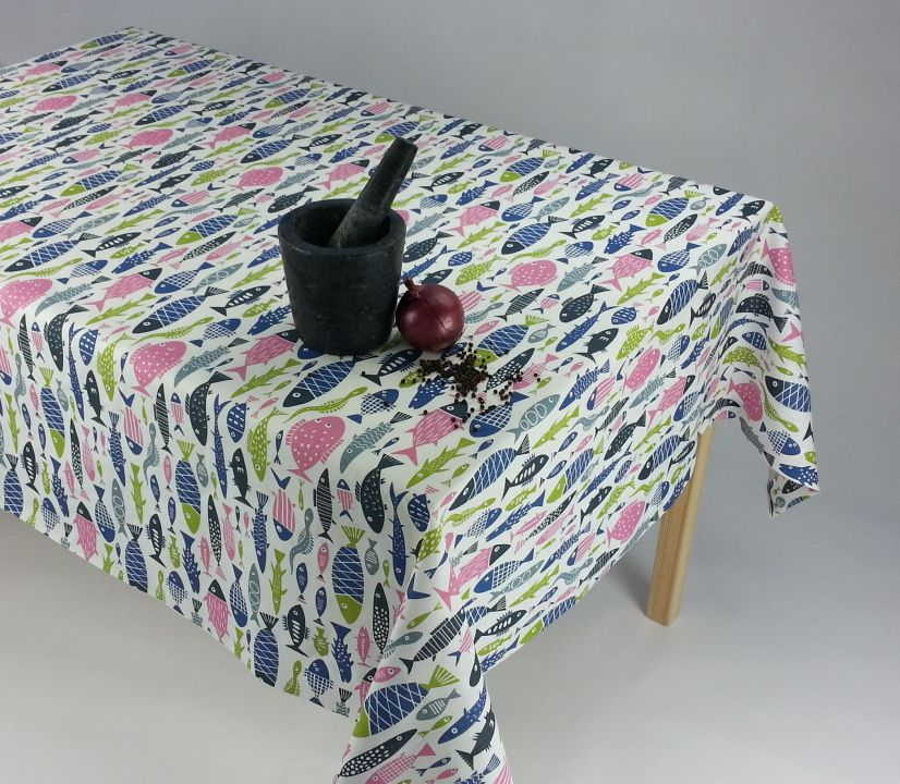 """Fish"" tablecloth by Klippan - Yulki's Home Décor"