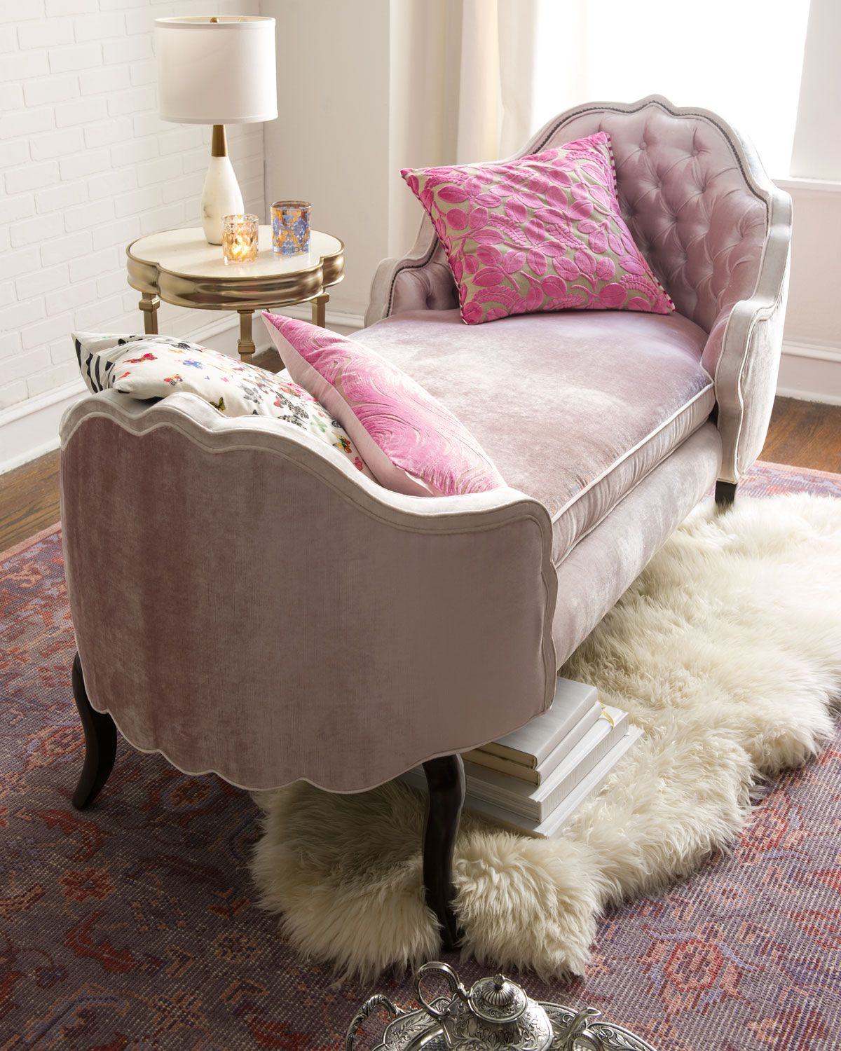 Bedroom Chair Pink Velvet Toddler Rocking Chairs Pippa Tufted Chaise House Bedrooms And Room