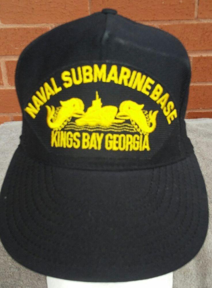 3c5f83854cd272 Vintage Naval Sub Base Kings Bay Ga Hat Cap 70s 80s Snapback MADE IN USA