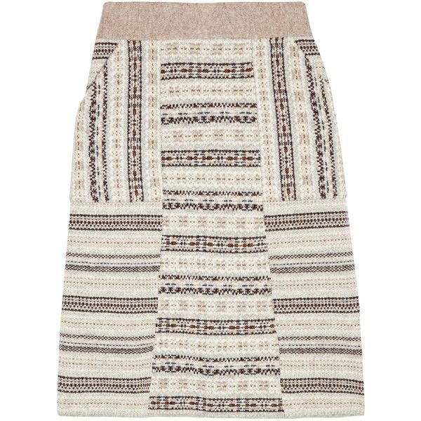 Tory Burch Fair Isle A-line wool skirt and other apparel ...