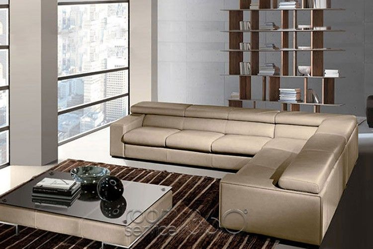 Hugo Italian Leather Sectional Sofa By Gamma Arredamenti Modern
