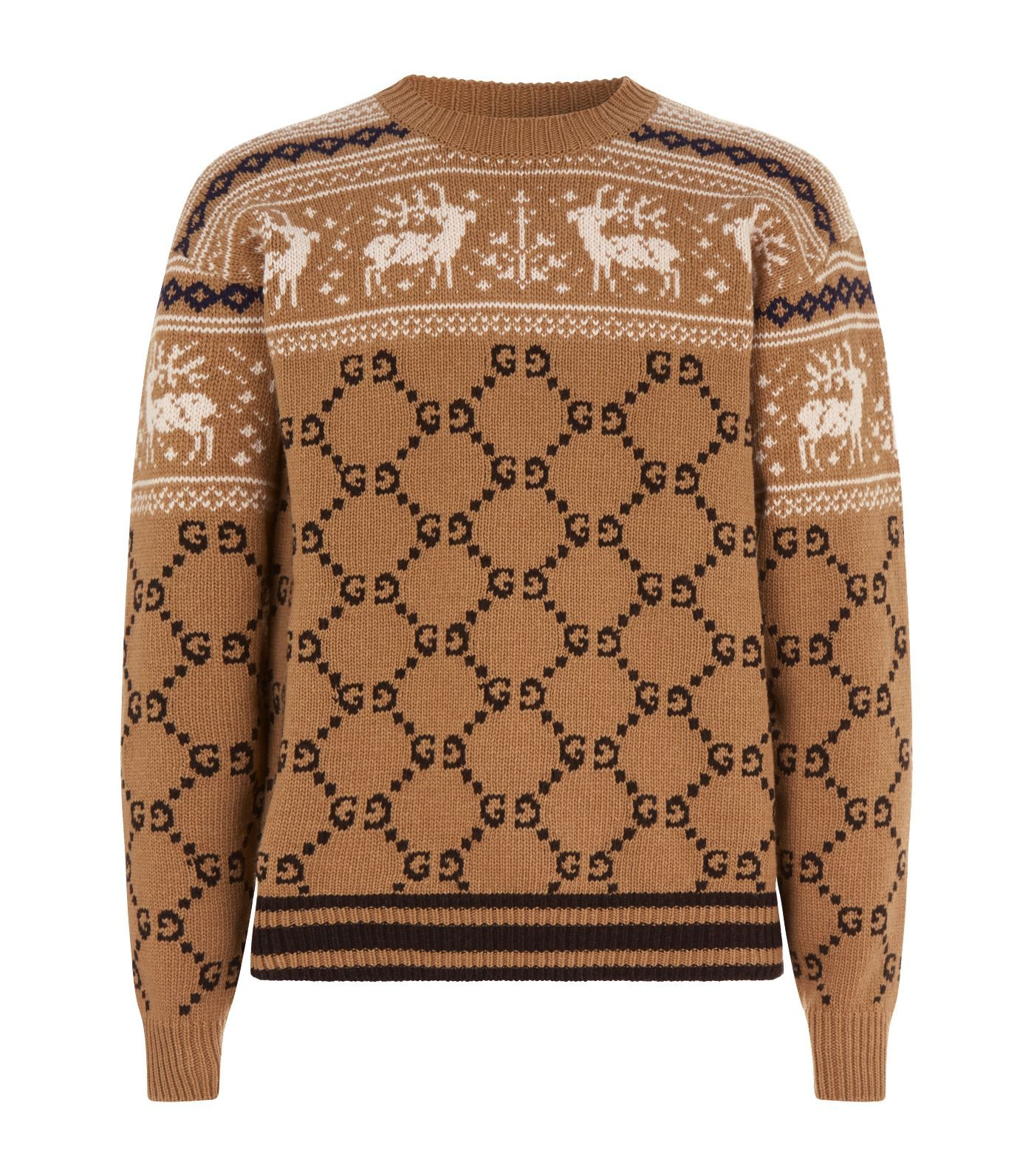 f5ce5e1f56b0 GUCCI REINDEER GG KNIT SWEATER.  gucci  cloth