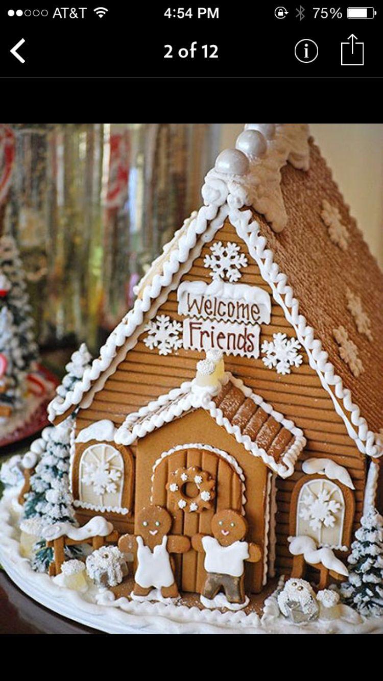 Gingerbread house | GINGER HOUSES | Pinterest | Casitas, Recetas ...