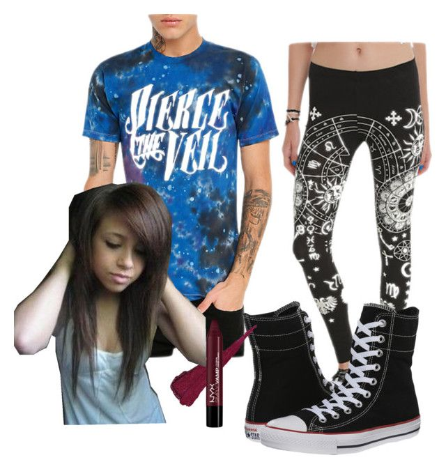 Let Me check with the Stars? by marievampire on Polyvore featuring beauty and Converse