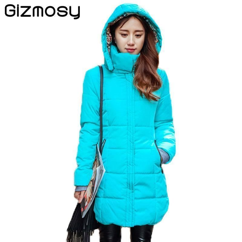 New Winter Jacket Women Long Slim Coat Female Down Cotton Clothing Thicken  Parka 58a3e13f77