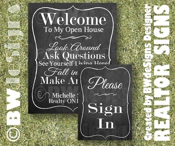 SPECIAL PRICE Realtor Open House Cardstock Prints- Real Estate Signs