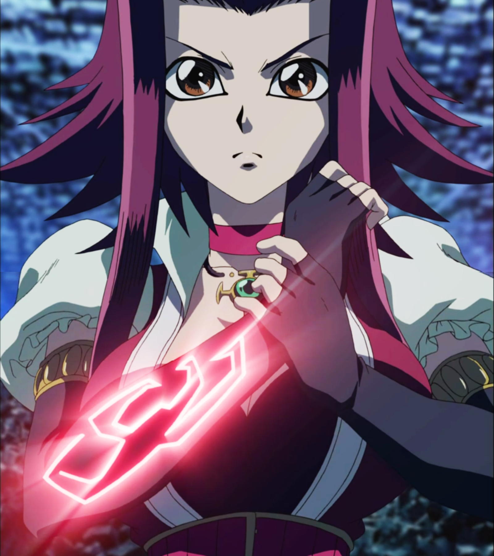Aki Izayoi signer mark 5DS Yugioh, Anime red hair, Anime