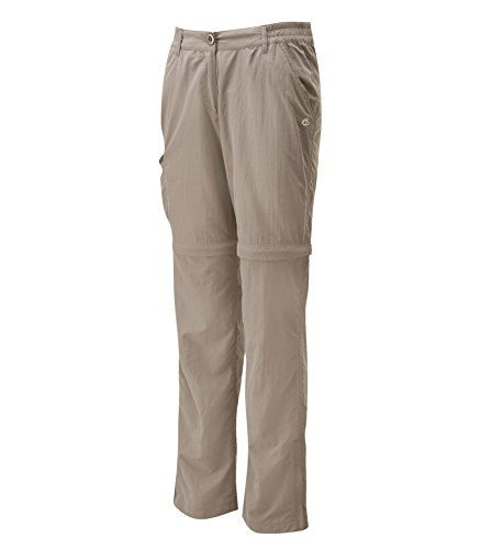 Introducing Womens Nosilife Zip Off Trousers by Craghoppers  Can Be Worn A  Mushroom  12S. Great Product and follow us to get more updates!