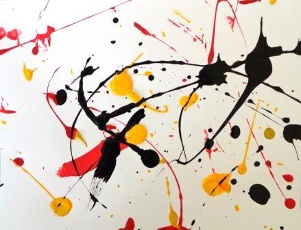 Dripping Façon Pollock Arts Plastiques Maternelle Arts