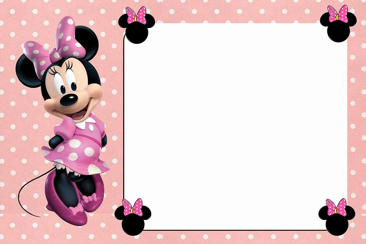 Free Online Minnie Mouse Invitation Template | Coolest Invitation ...