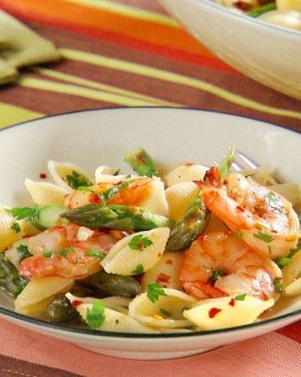 """See the """"Shrimp Scampi with Asparagus"""" in our Seafood for Parties gallery"""