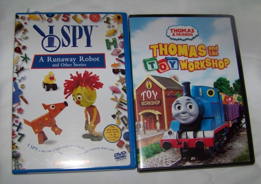 Thomas the Train dvd Thomas and the Toy Work Shop & I Spy dvd Run away Robot