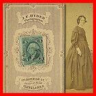 1865 CDV Photo * Fancy Stamp Box Backmark Tax Stamp Dated Cancel Cleveland Ohio - 1865, Backmark, Cancel, Cleveland, dated, FANCY, Ohio, PHOTO, Stamp