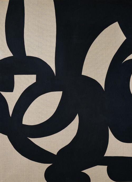:Carla Accardi (Italian, 1924–2014), Nero, 2005. Vinyl on canvas, 220 x 160cm.