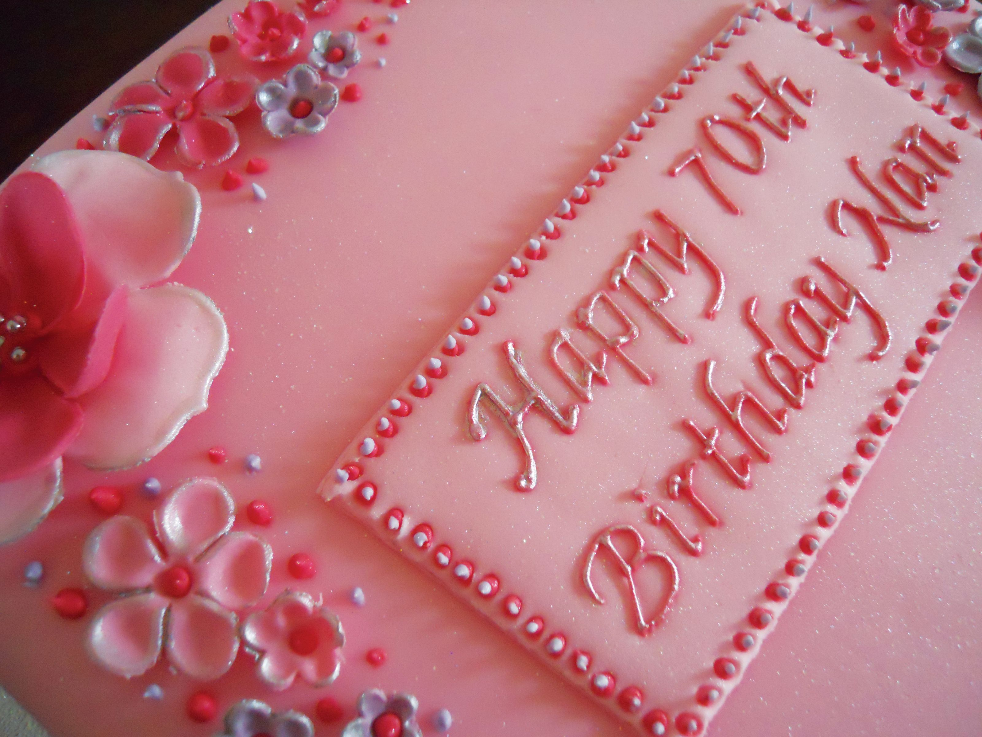 Birthday cakes for women images of 70th birthday cake for 70th birthday cake decoration ideas