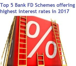 Top 5 Bank Fd Schemes Offering Highest Interest Rates In India In 2017 It Also Indicates About Latest Bank Fd Interest Rates In J Interest Rates Schemes Offer