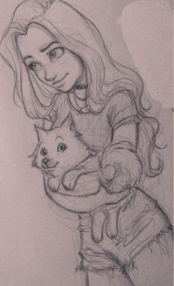 #girl #drawing #art #cat - #art #cat #drawing #Girl