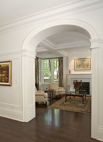Love it arched doorway and high chair rail gorgeous for Decorative archway mouldings