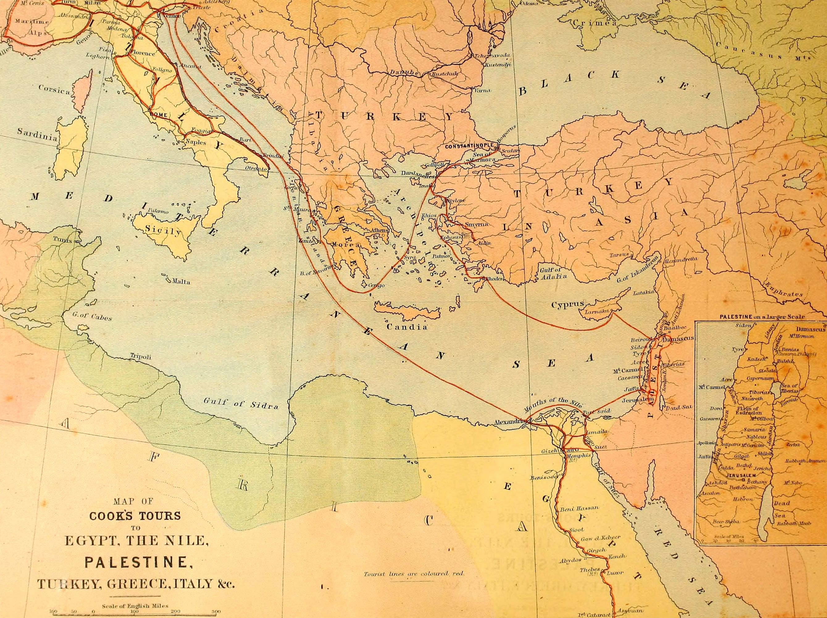 Map up the nile by steam 1872 egypt the nile palestine nile map up the nile by steam 1872 egypt the nile palestine gumiabroncs Images