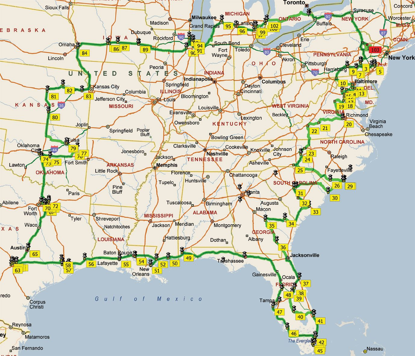 Eastern United States Map My Blog - Complete us map