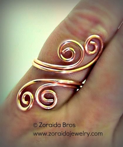 Easy Adjustable Spiral Ring Tutorial | Ringe, Drahtschmuck und Schule