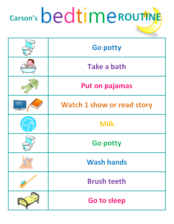 picture about Children's Routine Charts Free Printable titled Child Bedtime Schedule Chart Children and parenting Baby