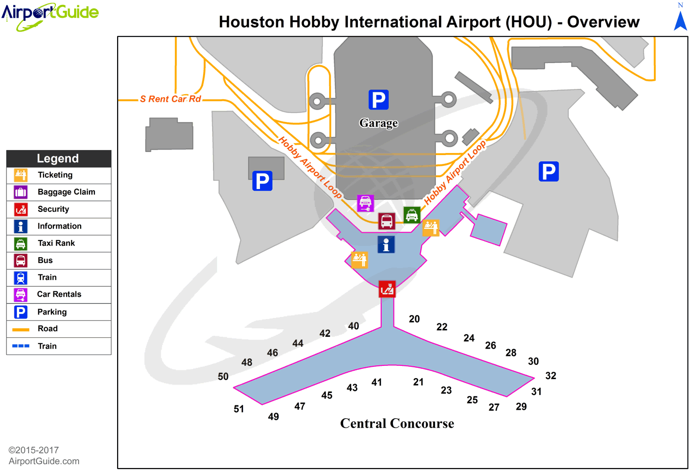 map of hobby airport houston tx Houston William P Hobby Hou Airport Terminal Map Overview map of hobby airport houston tx