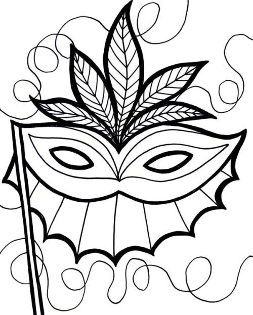 An Ethnic Mardi Gras Mask Coloring Page