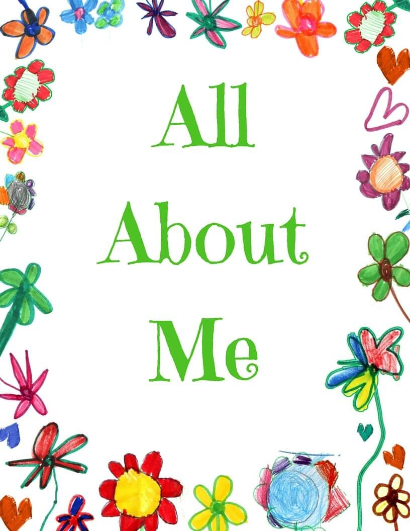 All About Me Book with FREE Printable | Free printable, Sentences ...