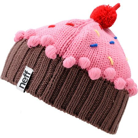 ebf962737da8d The Neff Cupcake Beanie looks so tasty you could just about eat it! The Neff  Strawberry knit beanie features a custom cupcake design and colors