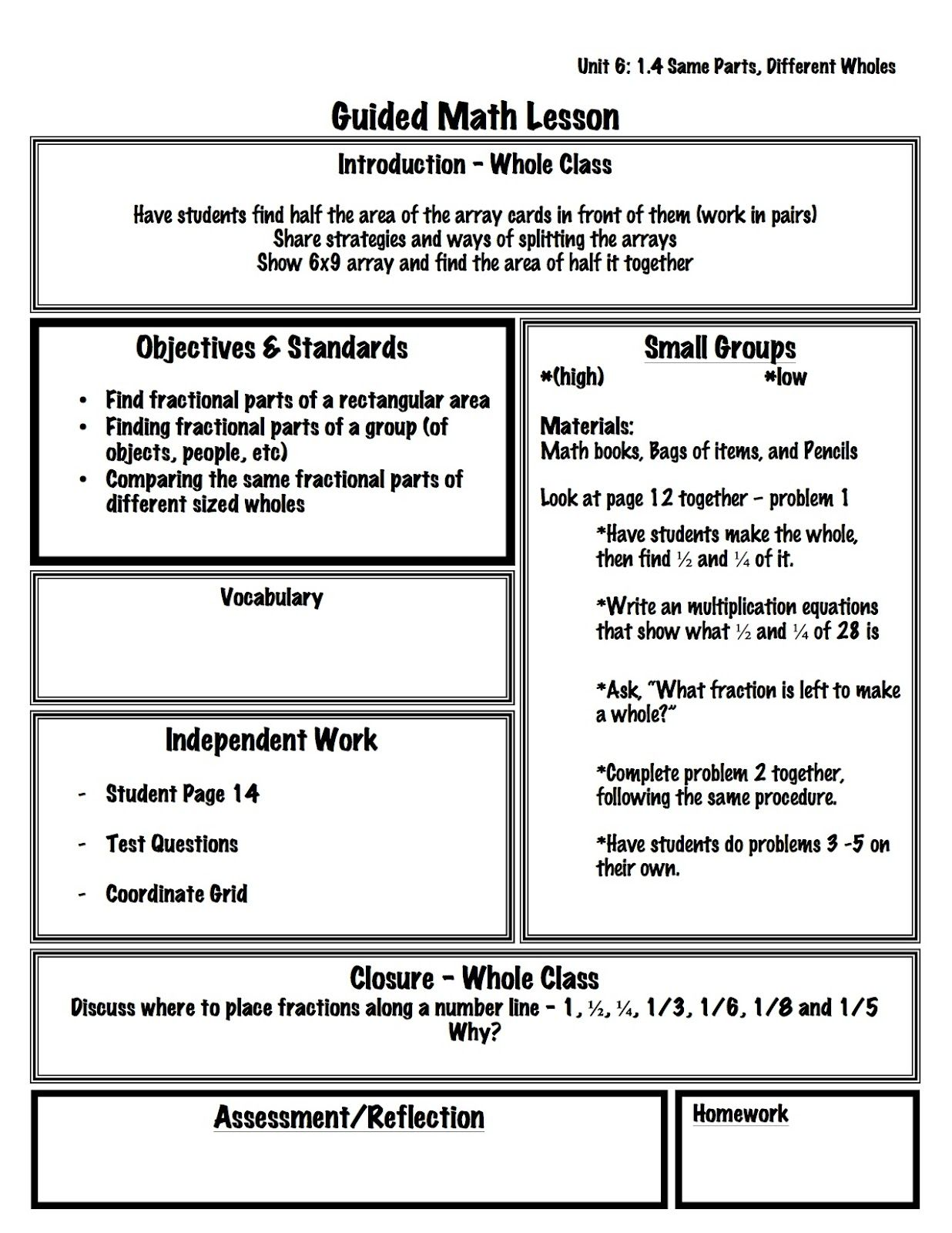 Guided+Math+Template+-+Example+copy.jpg 1,236×1,600 pixels ...