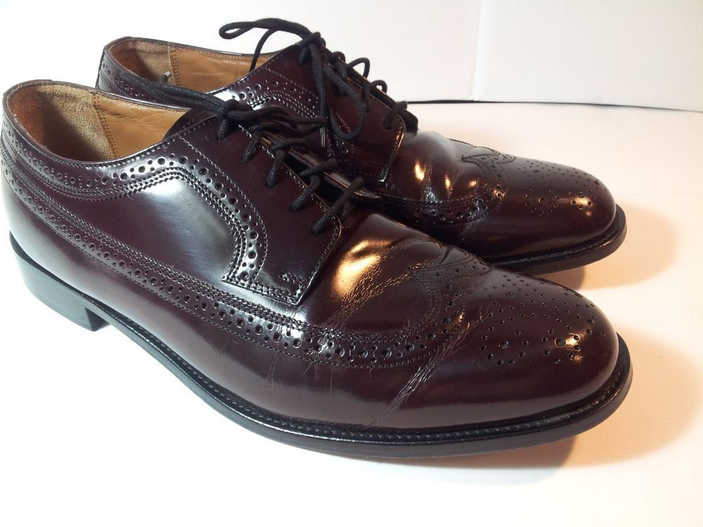 Men's Bostonian LUXE WING TIP Oxford Comfort Dress Shoes Brown Leather-13 M