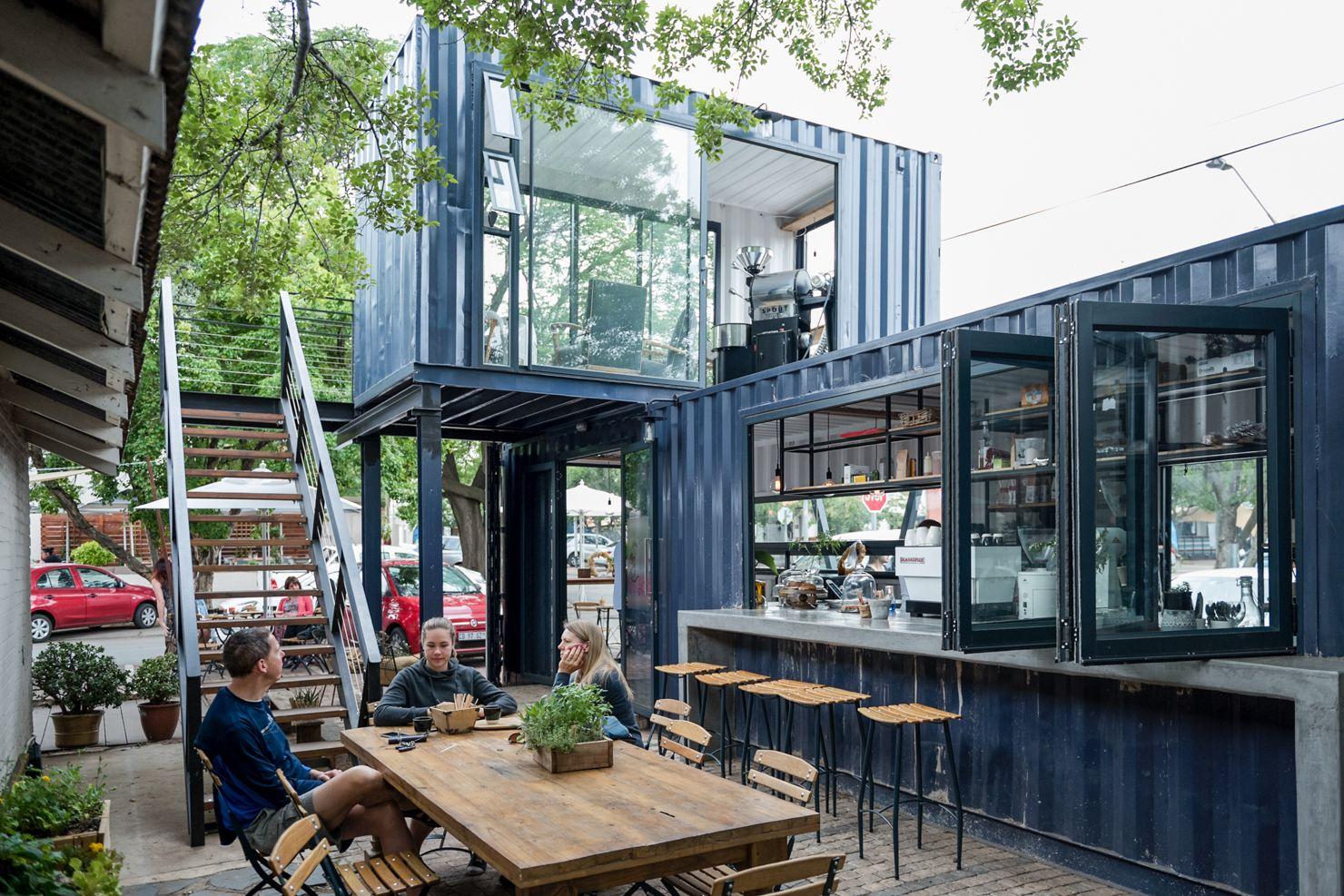 Spout Coffee Modern Container Shop Pretoria