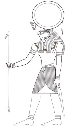 Egyptian God Ra Coloring Page Projets à Essayer Pinterest