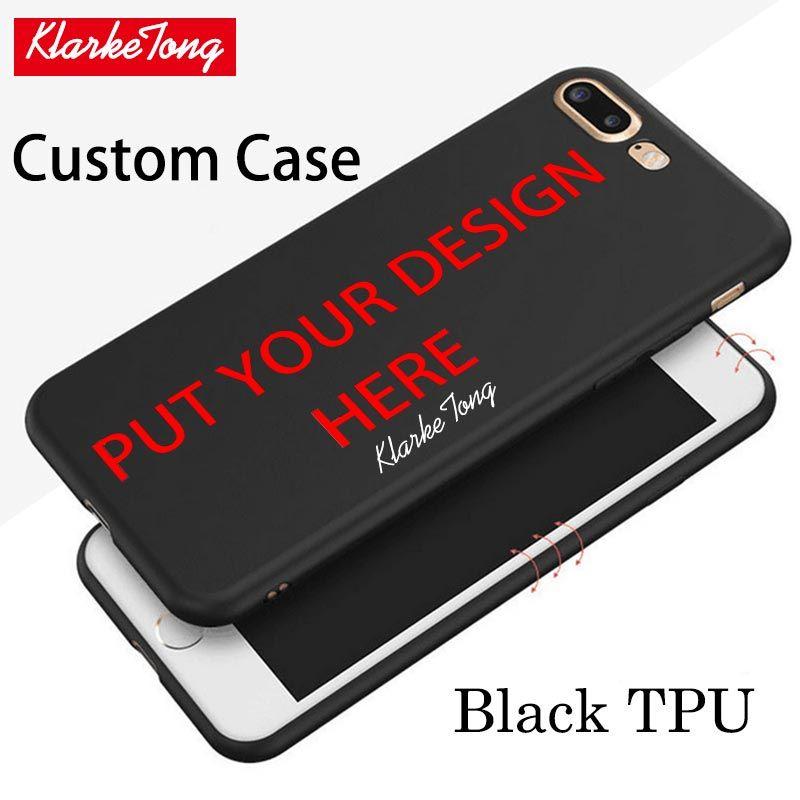 super popular 9ba56 fee30 Custom Design DIY Photos Black TPU Case For IPhone 6 6s 7 ...