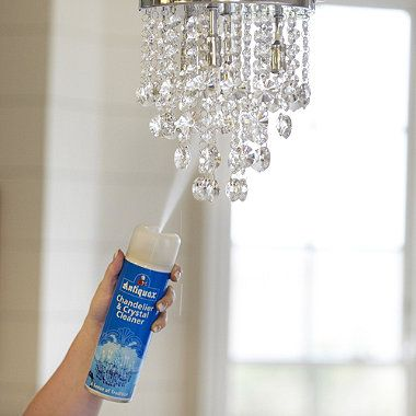 Pin On House Cleaning Tips, What Is The Easiest Way To Clean A Crystal Chandelier