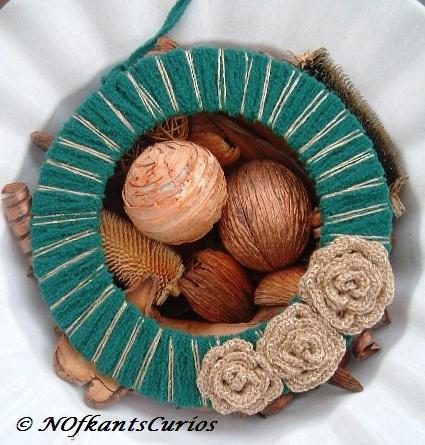 Golden Roses Wreath! Crocheted Floral Rose Wre... - Folksy