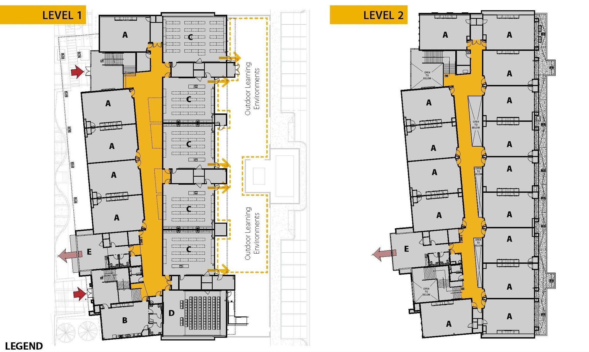 Gallery edison high school academic building darden architects 10