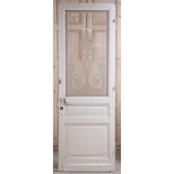 Architectural | Architectural Antiques | Antique Doors/Windows | Antique  Etched Glass Interior Door | - Architectural Architectural Antiques Antique Doors/Windows