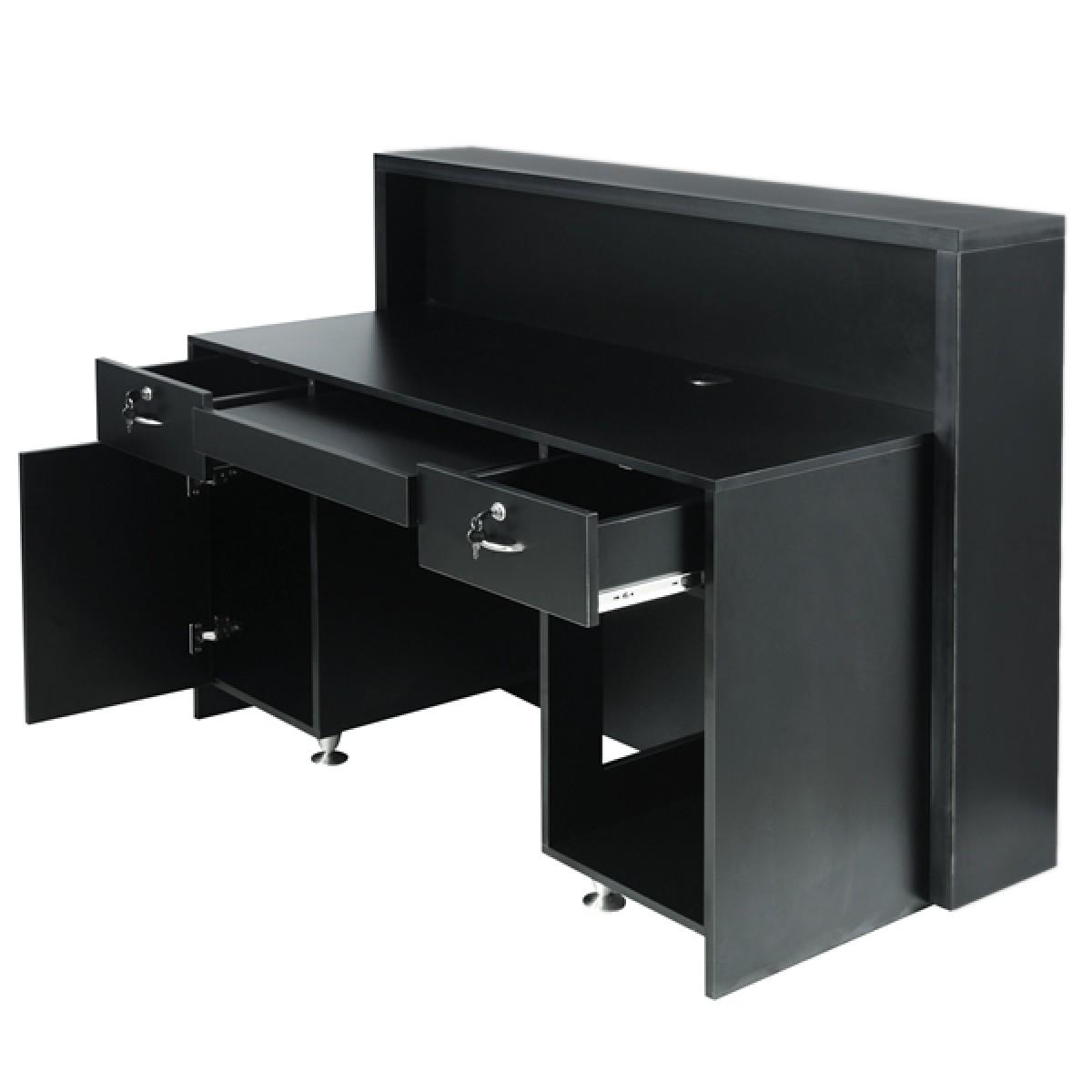 Delamere Salon Reception Desk Matte Black Reception Desk Salon Reception Salon Reception Desk