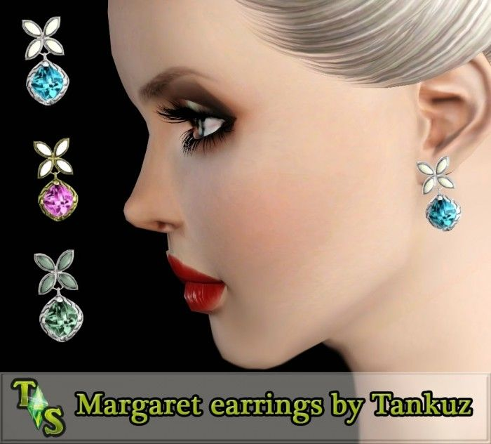 Margaret earrings by Tankuz - Sims 3 Downloads CC Caboodle