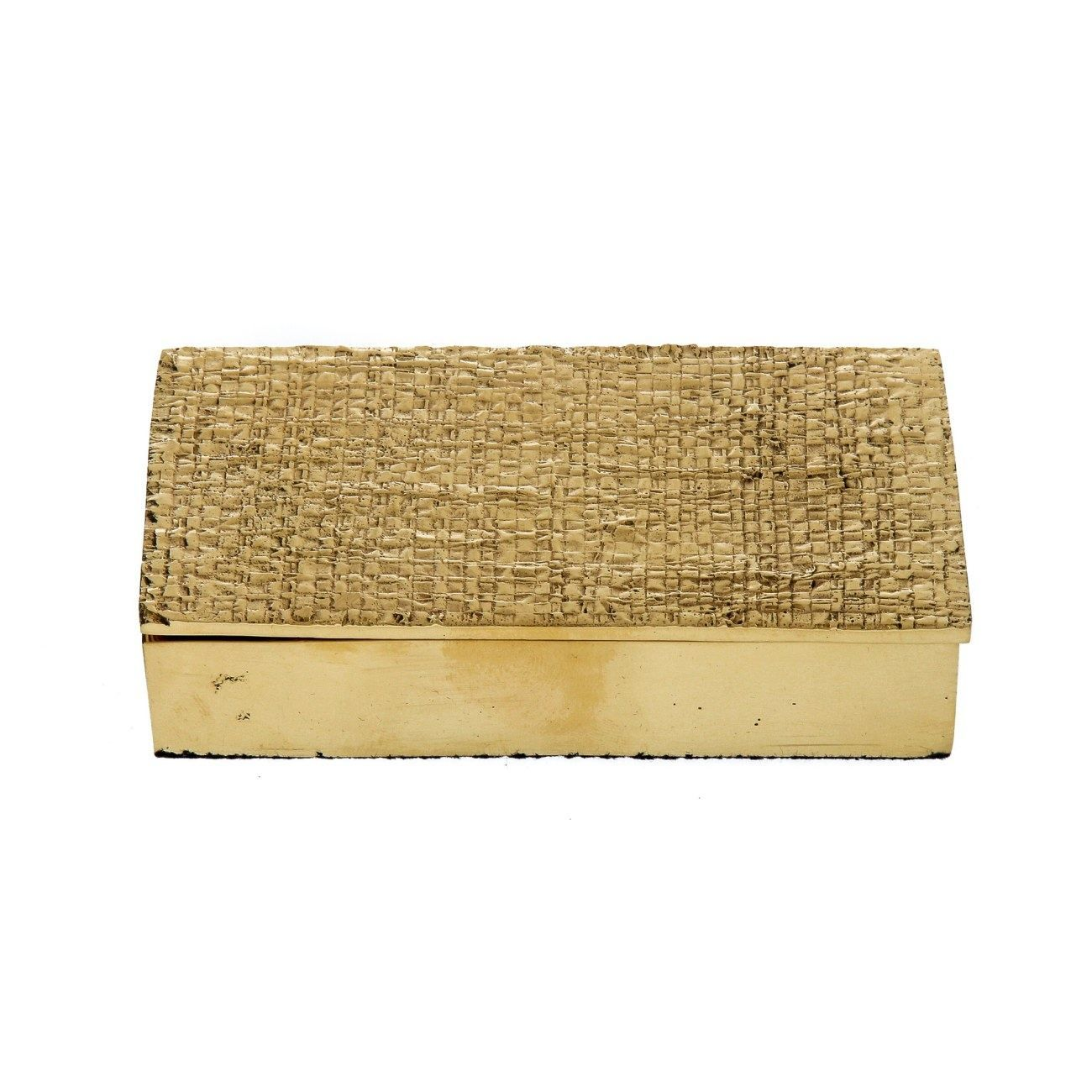 Handmade Decorative Boxes Bronze Metal Decorative Box Or Container Handmade With Textured