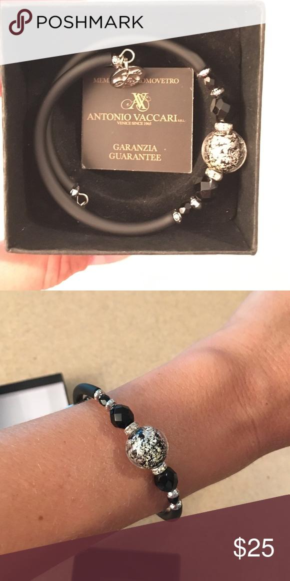 antonio vaccari bracelet handmade venetian bead made of murano glass was a gift from italy