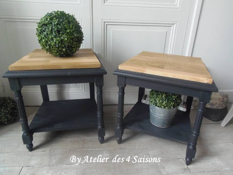 bout de canap de lit table de chevet tabouret une seconde vie pour ces 2 chaises vintage. Black Bedroom Furniture Sets. Home Design Ideas