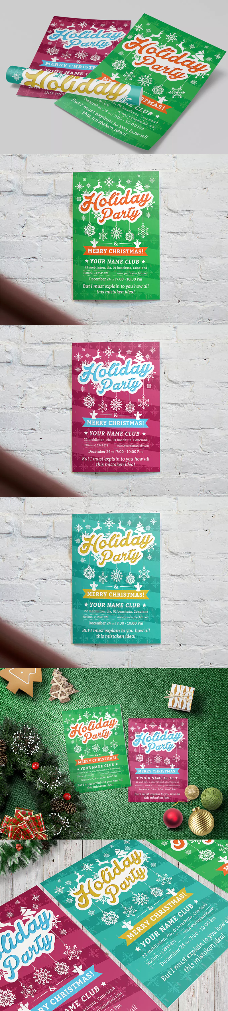 Holiday party flyer template psd a4 flyer design templates holiday party flyer template psd a4 maxwellsz