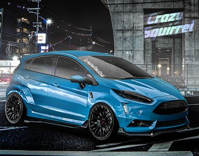 Ford Fiesta Mk7 St Blue Tuning Ford Fiesta Zetec Ford Fiesta St