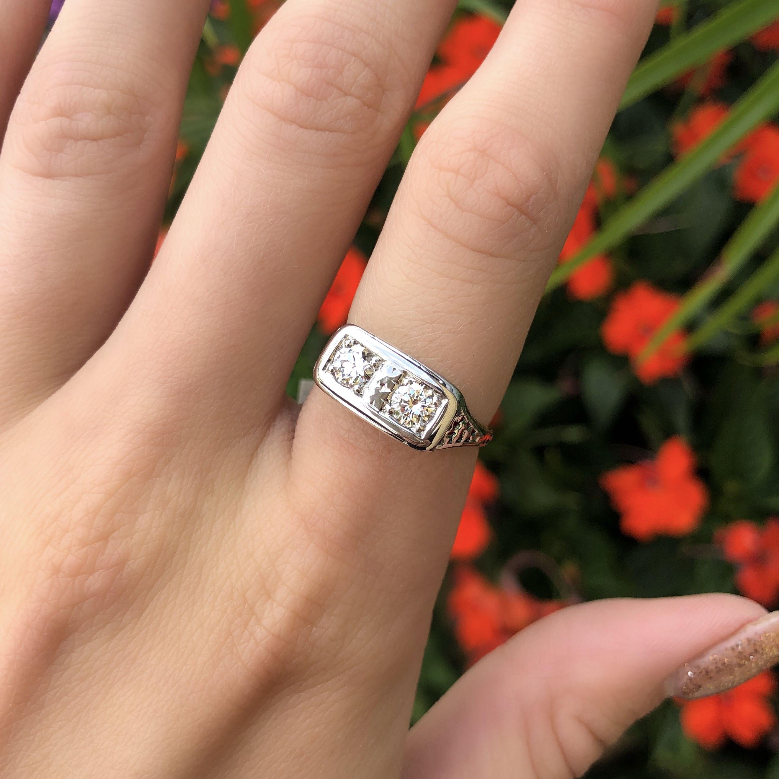 Engagement Rings Kansas City: 2 Stone Diamond Ring. Annual Summer Sizzling Sale 2018