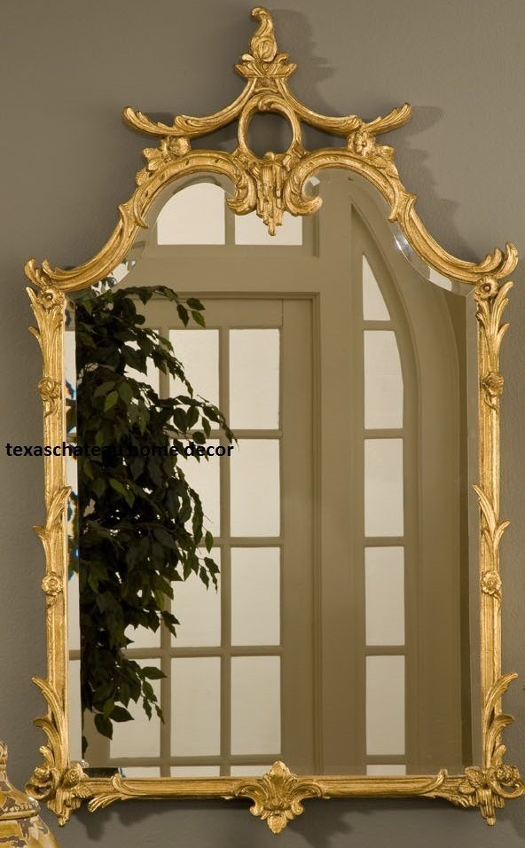 Elegant LARGE ORNATE GOLD WALL MIRROR ANTIQUE FRENCH CHINOISERIE REGENCY VINTAGE  STYLE Design Ideas